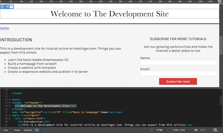 code editor dreamweaver yang mudah digunakan