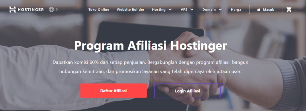 Ide bisnis online dengan bergabung di program afiliasi Hostinger