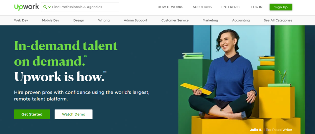Contoh ide bisnis online - profesi asisten online di Upwork