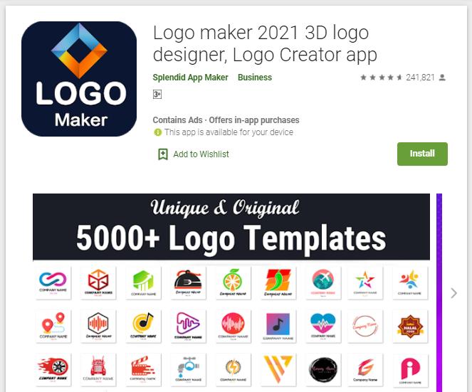 Logo Maker aplikasi buat logo di HP