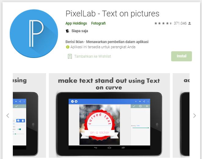 PixelLab untuk buat logo di HP