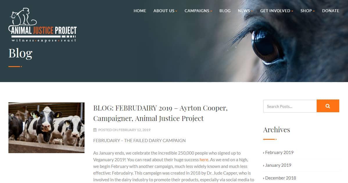 contoh ide blog hewan