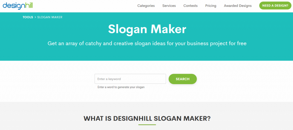 slogan maker design hill