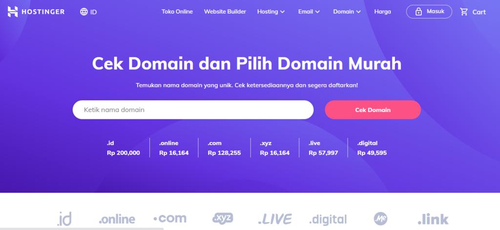 Domain checker untuk memilih domain