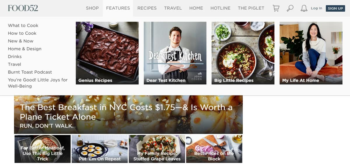 contoh blog makanan untuk ide blog