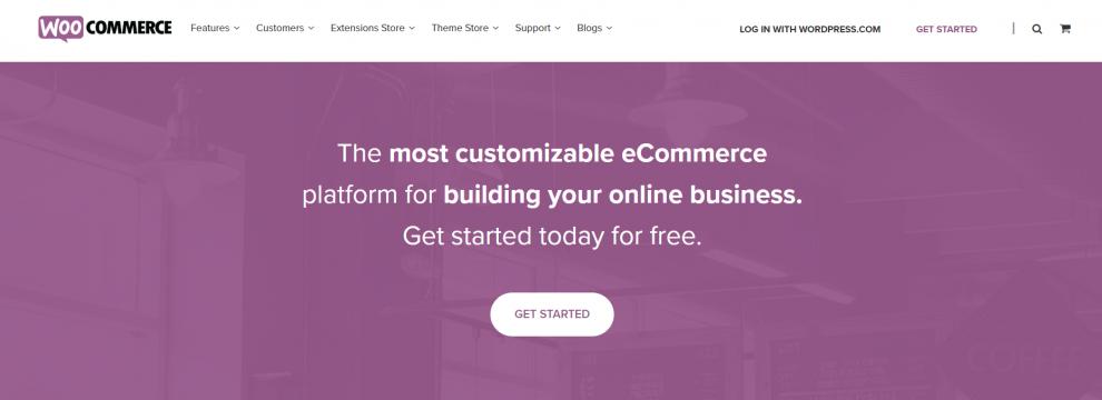 tampilan website woocommerce