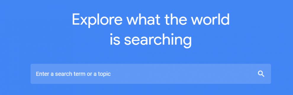 Anda dapat memasukkan keyword untuk mencari trend berdasarkan negara Anda