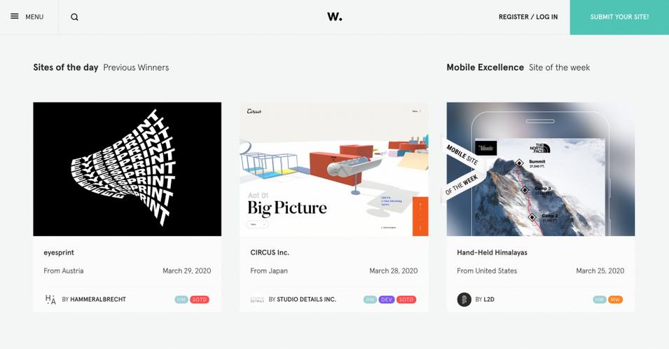 contoh desain web dari awwwards