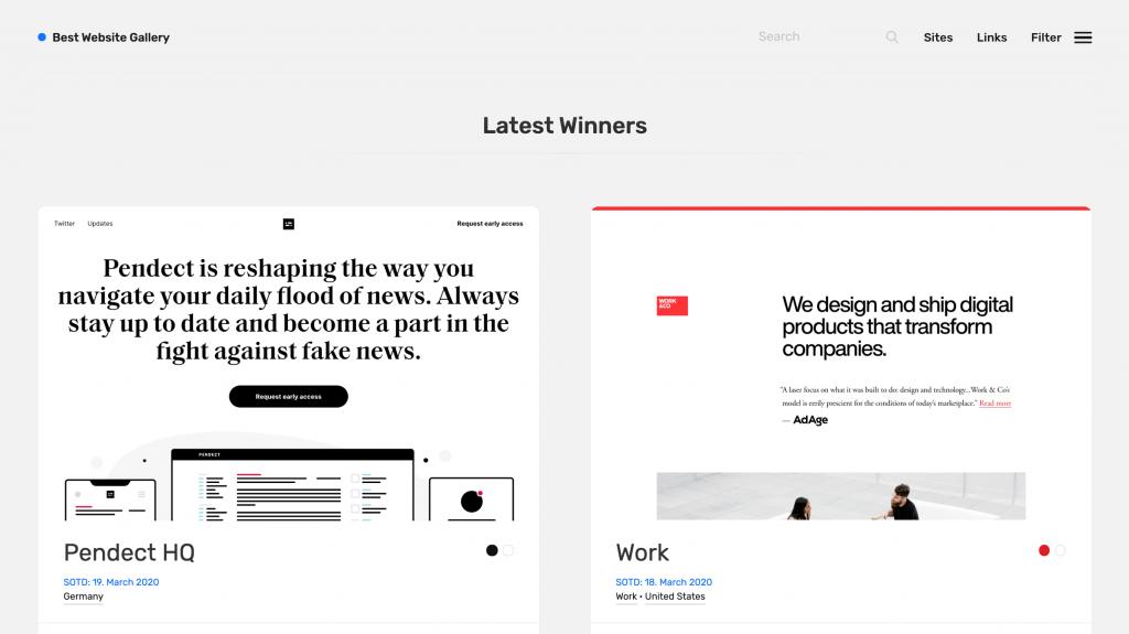 contoh desain website dari best website gallery