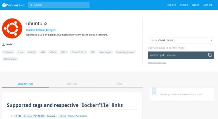 Image di Docker Hub