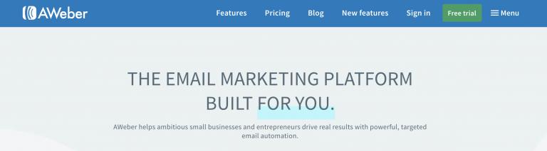 Aweber, layanan email marketing