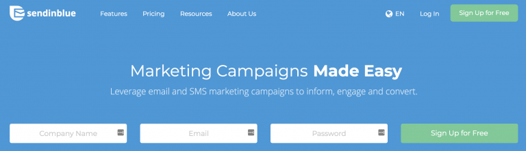 Layanan email marketing SendInBlue