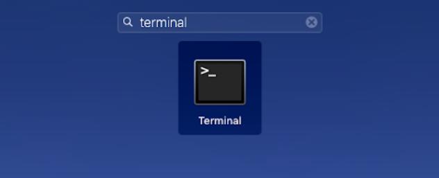 terminal macos