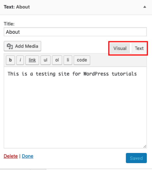 mengganti tampilan editor wprdpress ke editor html