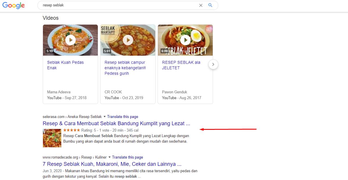 Apa itu schema - contoh schema di mesin pencari Google