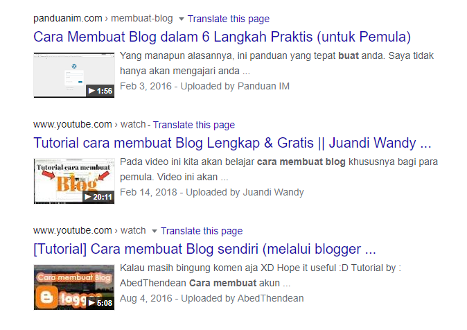 Contoh video markup