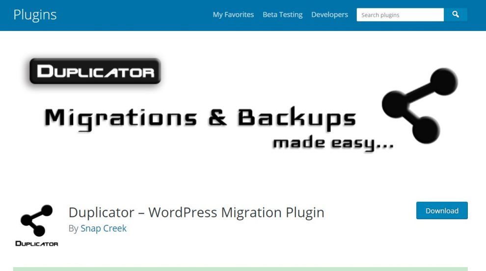 plugin migrasi wordpress duplicator