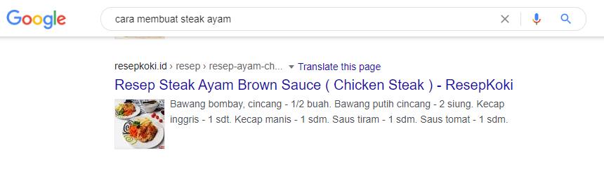 Contoh recipe schema