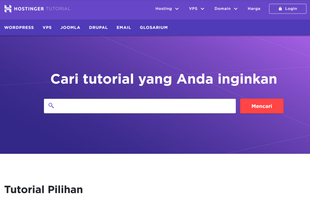 tutorial hostinger lengkap