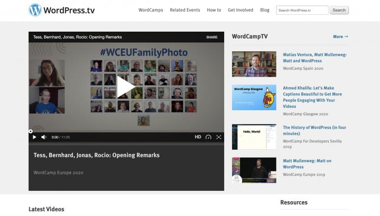Belajar WordPress di WordPress TV