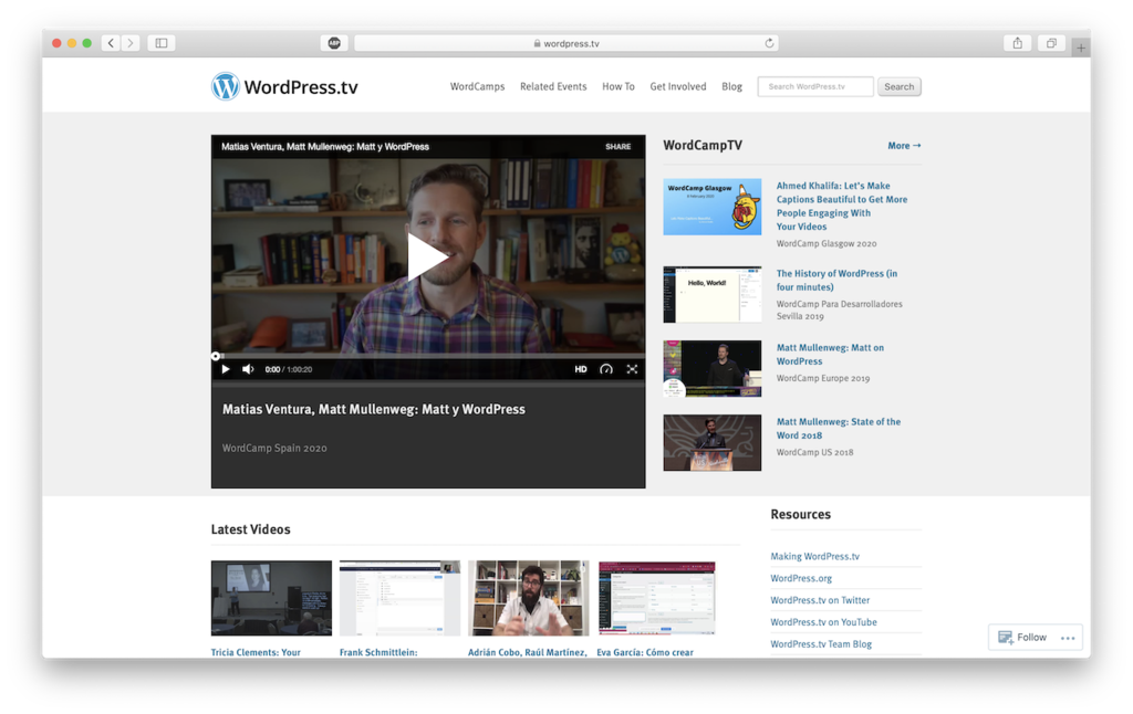 wordpress tv platform belajar wordpress