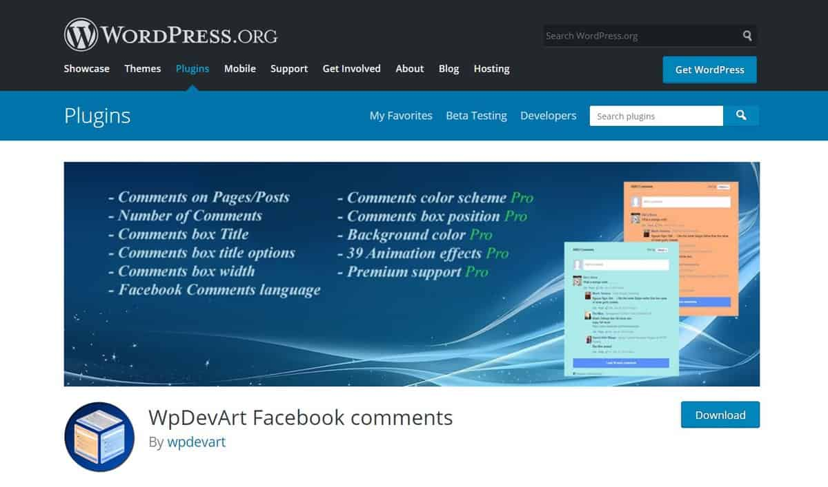 WpDevArt Facebook Comments, plugin comment WordPress