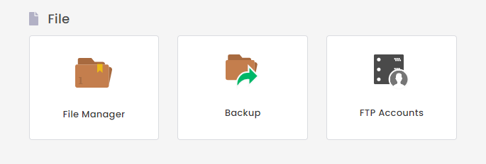 File Manager di hPanel
