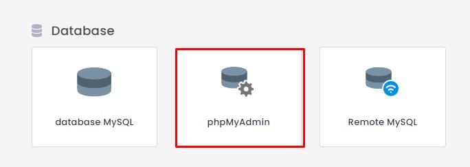 Pilih phpMyAdmin di hPanel