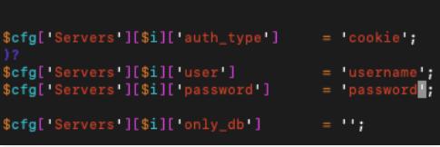 set password dan username