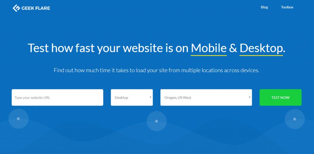 Geek Flare untuk cek speed website