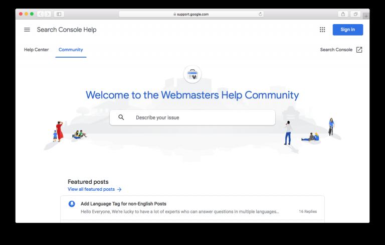 Forum SEO Google Webmaster Help Community