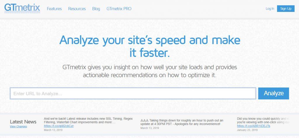 GTmetrix, tool cek kecepatan website