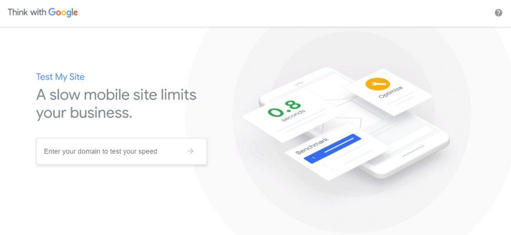 Test My Site untuk tes kecepatan blog