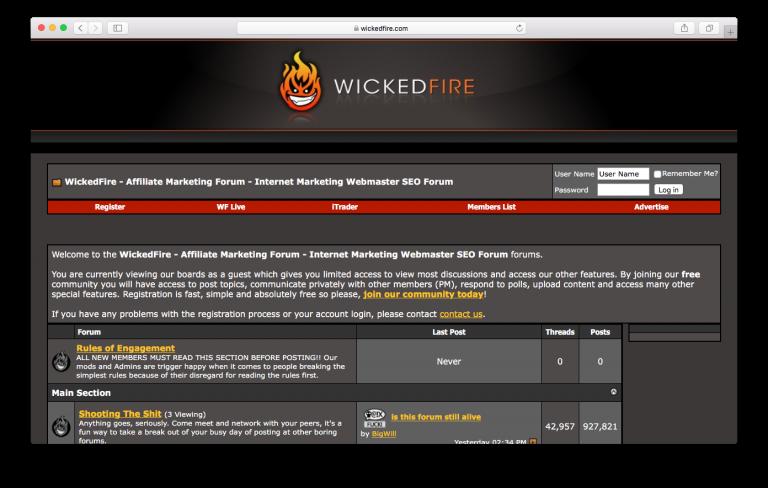 Forum SEO Wicked Fire
