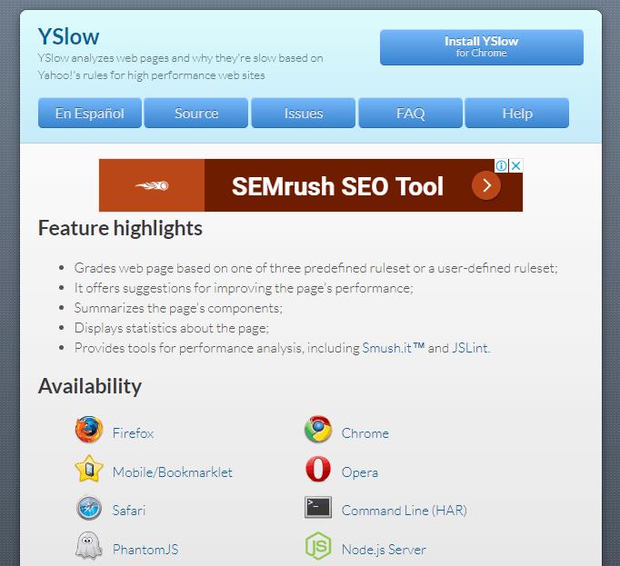 YSlow untuk cek kecepatan situs