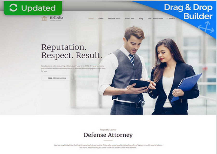 Desain premium untuk pengacara