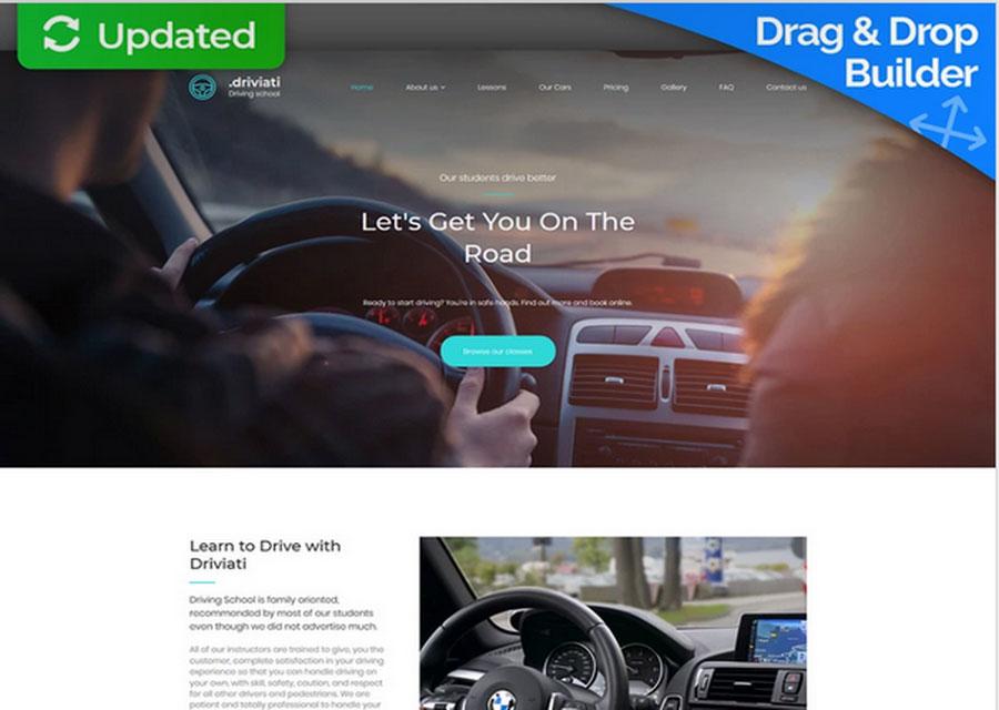Desain untuk jasa kursus mengemudi