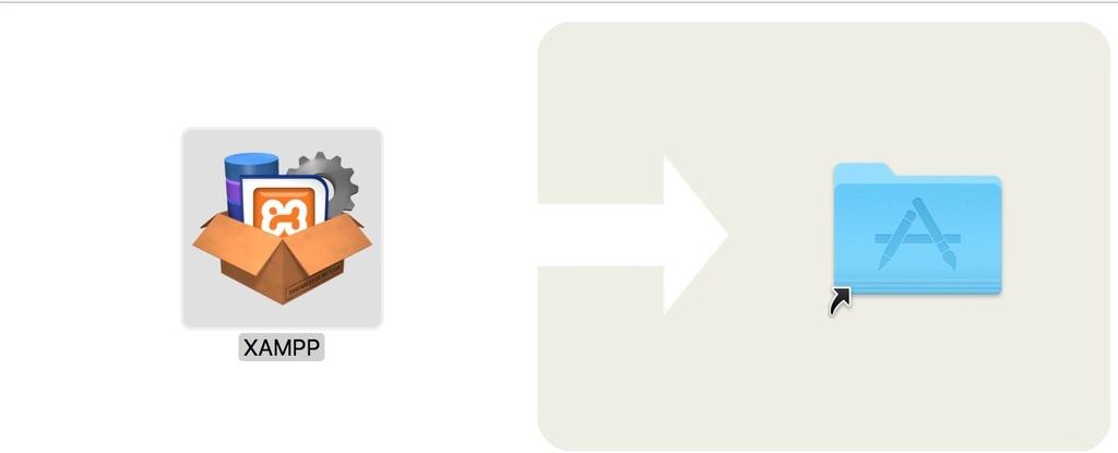 Drag XAMPP ke folder Application