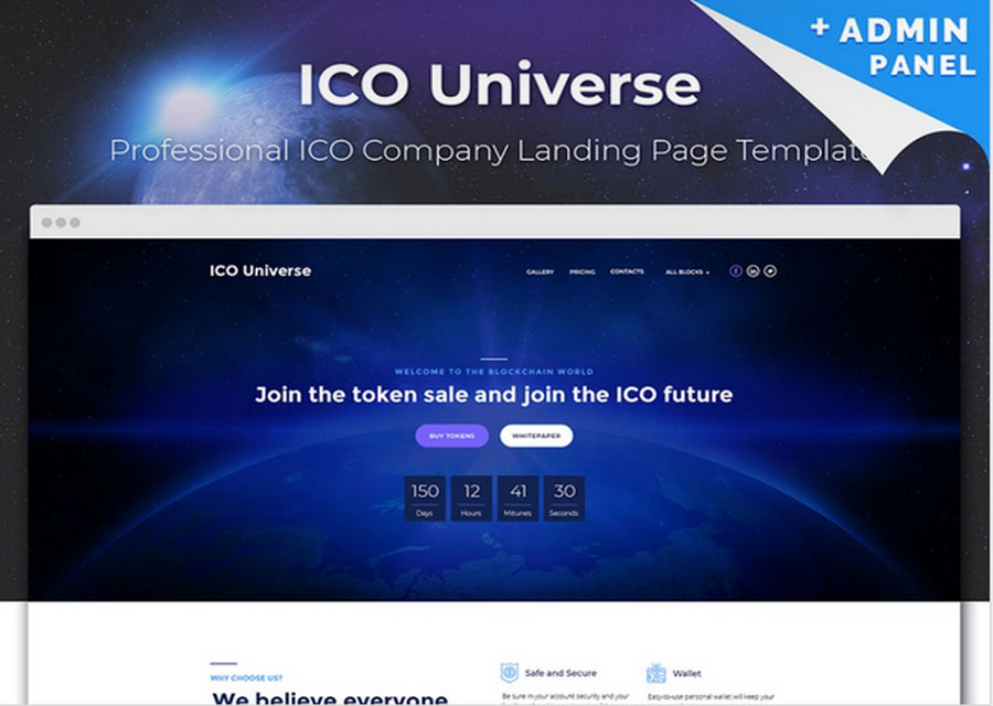 Template landing page Bitcoin