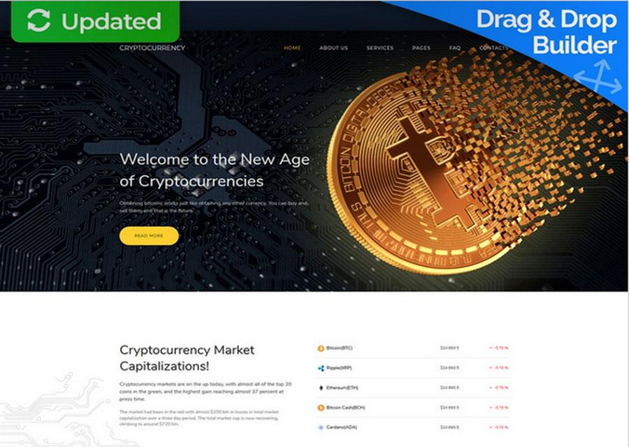 Template premium bisnis Bitcoin