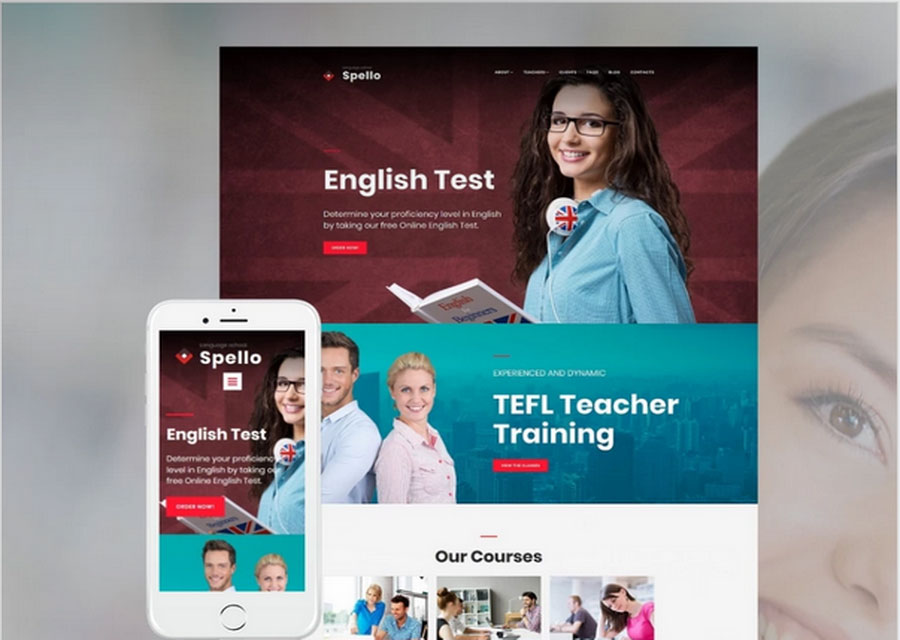 Template untuk sekolah bahasa
