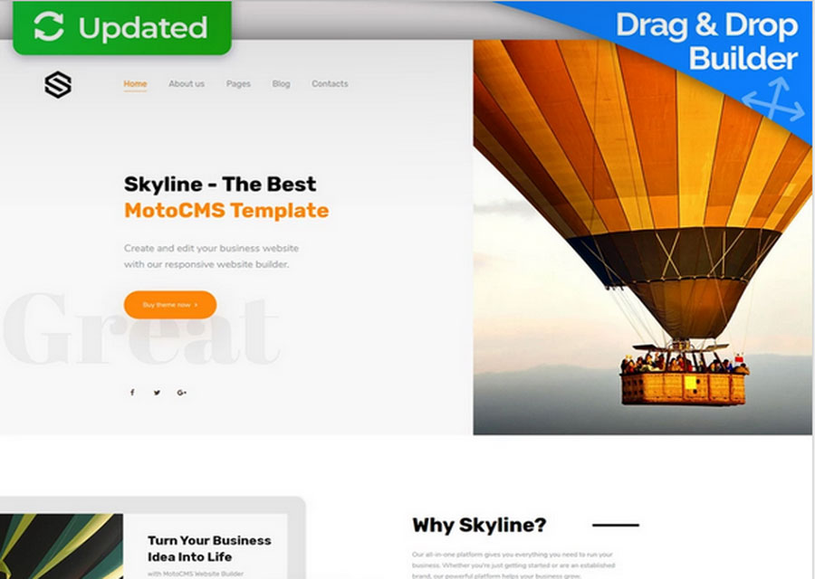 Template website Skyline