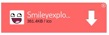 Tombol unduh gambar .ico