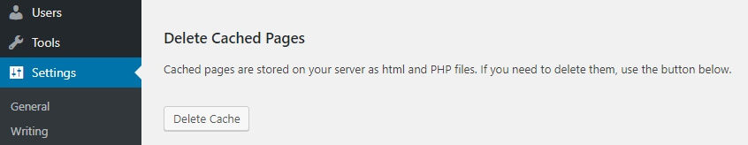 Membersihkan cache untuk maintenance WordPress