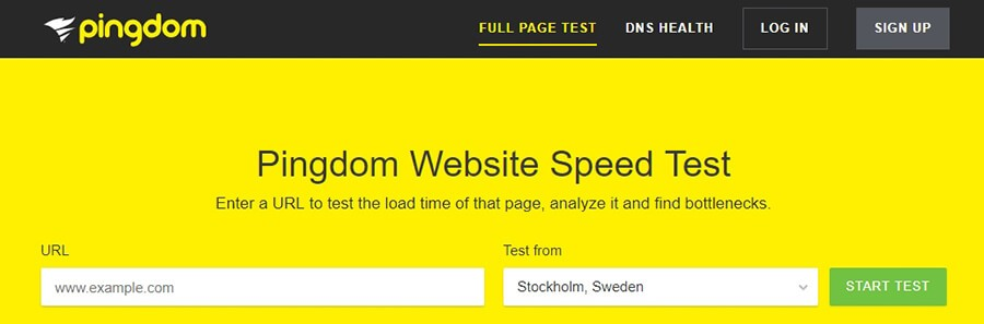 Pingdom untuk tes kecepatan website