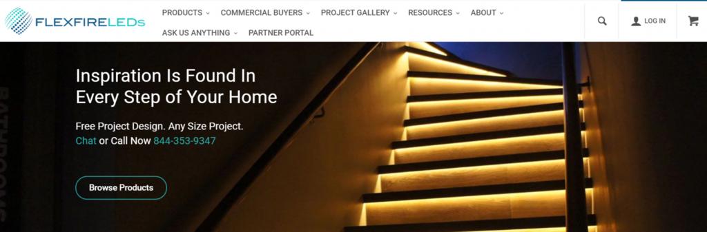 Flexfire LED model bisnis e-commerce B2B