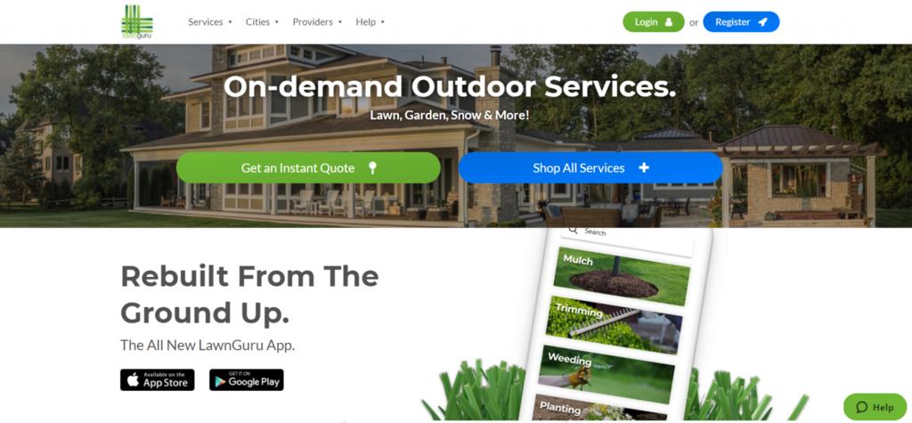 LawnGuru model bisnis eCommerce B2C