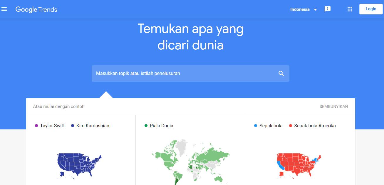Homepage Google Trends
