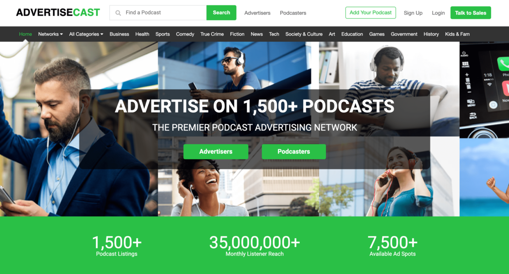 Homepage Advertisecast