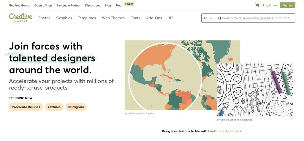 Homepage Creative Market
